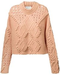 3.1 Phillip Lim Cable Knit Jumper - Lyst