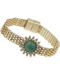 Topshop Green Stone Bracelet - Lyst