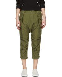 NLST Green Cargo Drop Crotch Shorts - Lyst