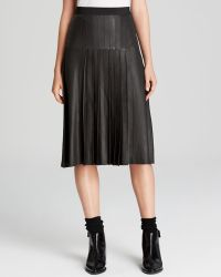 Vince Skirt  Leather Pleated - Lyst