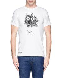 Aspesi Fluffy' Graphic Print T-Shirt - Lyst