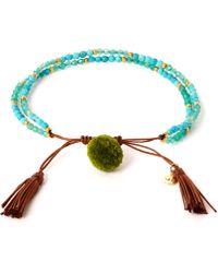 Tai - Turquoise Pom-pom Stone Beaded Bracelet - Lyst