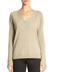 Eileen Fisher Cashmere V Neck Sweater - Lyst