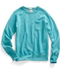 Todd Snyder X Champion Pocket Sweatshirt In Aquamarine - Lyst