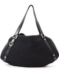 Gucci Black Gg Tote Bag - Lyst
