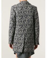 Carven 'manteau Drap' Coat - Blue