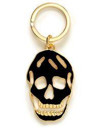 Alexander McQueen Cutout Skull Keyring - Lyst