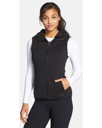 43531dc60 'caroluna' Reversible Hooded Vest - Black ... Info The North Face's casual  Caroluna fleece jacket will lend your capsule closet fresh appeal. This ...