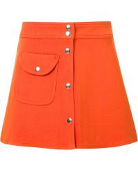UNIF A-line Mini Skirt - Red