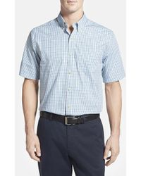 Cutter & Buck 'White Rock' Classic Fit Check Short Sleeve Sport Shirt - Lyst