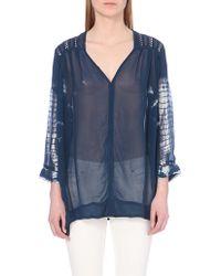 Free People Tie-Dye Sheer Blouse - For Women - Lyst