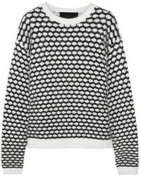 Jay Ahr Honeycomb Chunkyknit Sweater - White