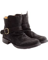 Fiorentini + Baker Suede Buckle Boots - Lyst