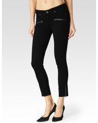Paige Jane Zip Crop black - Lyst