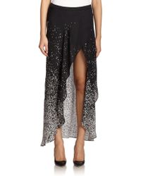 Haute Hippie Silk Confetti-Print Hi-Lo Skirt - Lyst