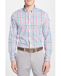 Victorinox - 'alastair' Tailored Fit Plaid Sport Shirt - Lyst