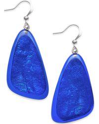 Style & Co. - Blue Shell Drop Earrings - Lyst