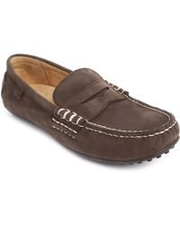 Polo Ralph Lauren Brown Leather Moccassin Wes - Lyst