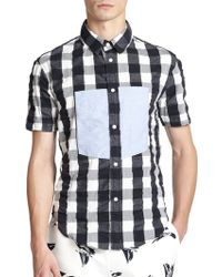 Band of Outsiders Gingham Cotton Sportshirt multicolor - Lyst