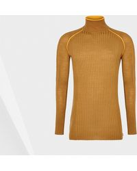 Hunter Neon Detail Polo-Neck Sweater - Lyst