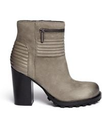 Sam Edelman Fowler Quilted Leather Ankle Boots - Lyst