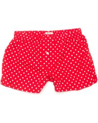Palmer Trading Company Willy Red with White Dots Boxer - Lyst