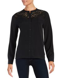 Cece by Cynthia Steffe - Lace Button-front Shirt - Lyst