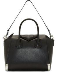 Givenchy Black Leather Antigona Small Duffle Bag - Lyst
