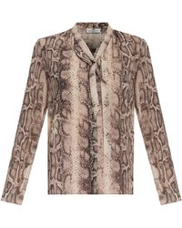 Day Birger Et Mikkelsen Serpent Snake Bow Blouse - Lyst