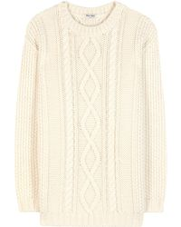 Miu Miu | Wool And Alpaca-blend Sweater | Lyst