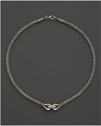"""Lagos - 18k Gold And Sterling Silver Derby Necklace, 16"""" - Lyst"""