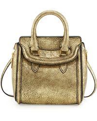Alexander McQueen Heroine Mini Metallic Satchel Bag - Lyst