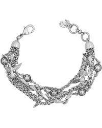 Lucky Brand Silvertone Layer Bird Bracelet - Metallic