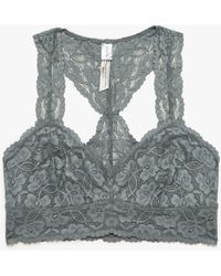 Need Supply Co. Galloon Lace Racerback Bra gray - Lyst