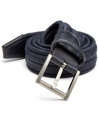 F. Faconnable Woven Leather Belt - Lyst