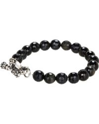 King Baby Studio Blue Faceted Tiger Eye Bracelet with Toggle - Lyst
