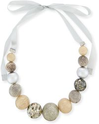 Marina Rinaldi - Leonida Mixed-media Ball Necklace - Lyst