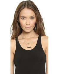 House of Harlow 1960 - Chrysalis Double Drop Necklace - Black - Lyst