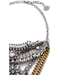 Laura Cantu - Double Long Necklace - Clear Multi - Lyst
