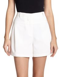 Halston Heritage Pleated City Shorts white - Lyst