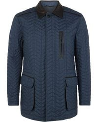 Brioni Prince Of Wales Check Coat - Lyst