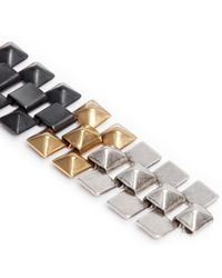 Ela Stone - 'freja' Pyramid Chain Earrings - Lyst