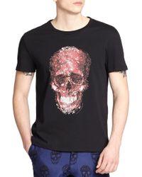 Alexander McQueen Skull Print Cotton Tee black - Lyst