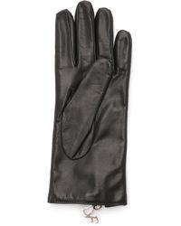 Diane von Furstenberg | Zip Leather Gloves | Lyst