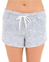 Roudelain - Super Cozy Heather Plush Shorts - Lyst