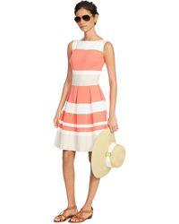 Lauren by Ralph Lauren Sleeveless Multi-Striped Dress - Lyst