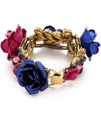 Erickson Beamon Urban Jungle Bracelet Pinkblue - Lyst