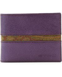 Etro Paisley-print Leather Wallet - Lyst