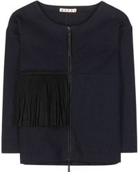 Marni Cotton And Linen Jacket - Lyst