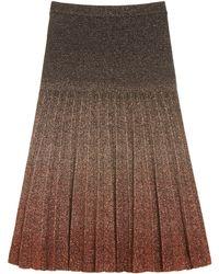 Mulberry Degrade Lurex Skirt - Black